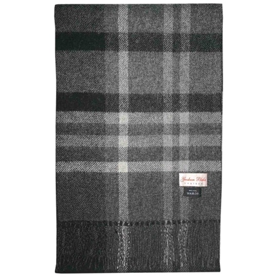 Charcoal Checked Scarf