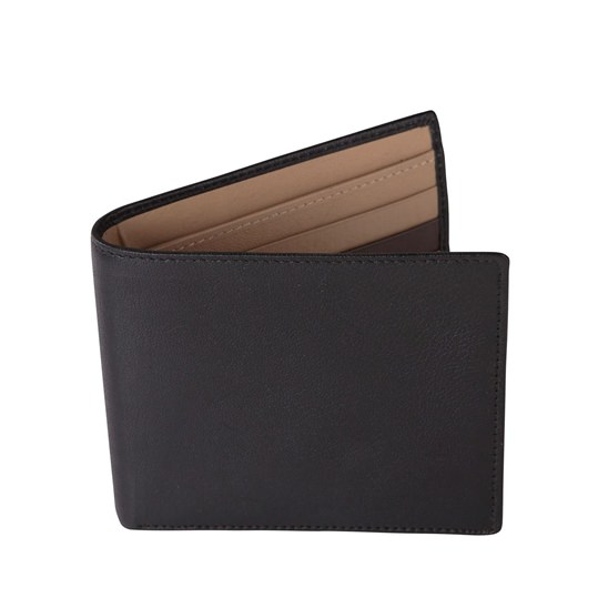 Black and Beige Leather Wallet