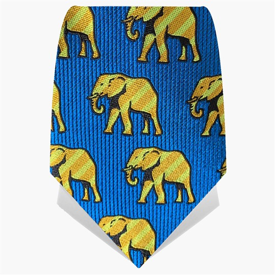 Blue & Yellow Elephants Tie