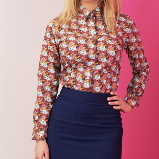 Womens Navy Garden Shirt