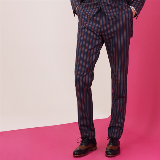 Red Stripe Deckchair Trousers
