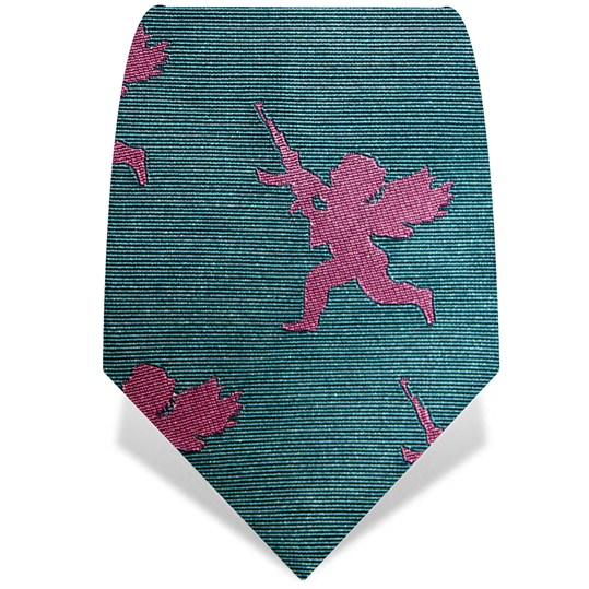Blue and Pink Cherub Tie