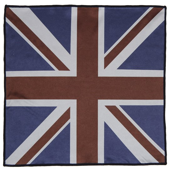 Union Jack Microfiber Pocket Square