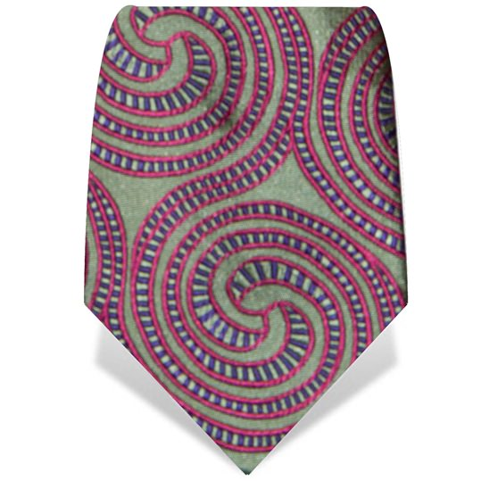 Gold and Pink Spiral Tie