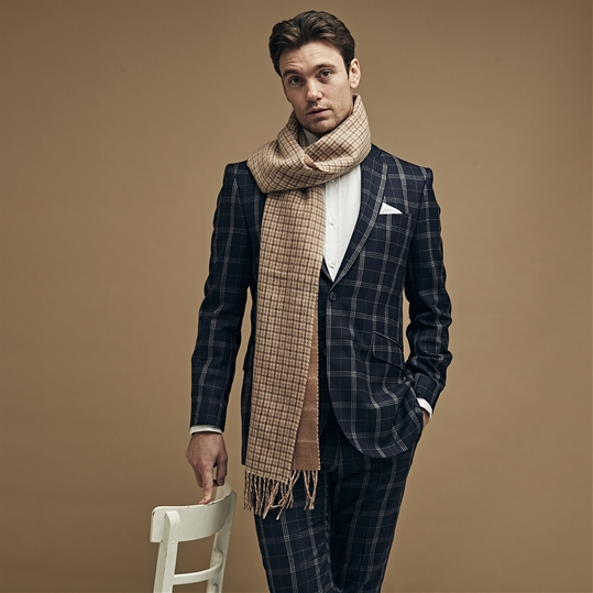 Camel Checked Reversible Scarf