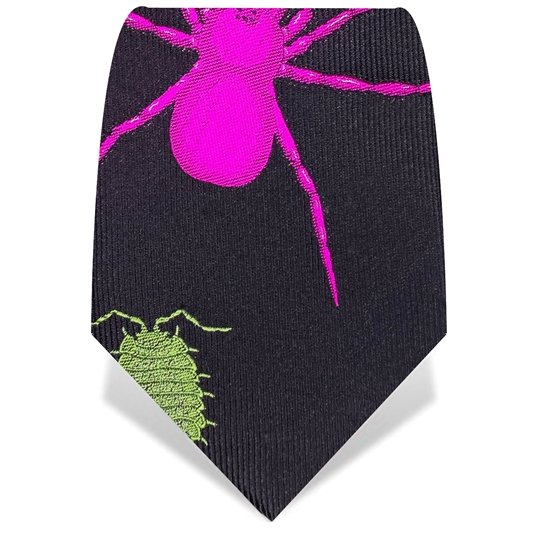 Black Creepy Crawlies Tie