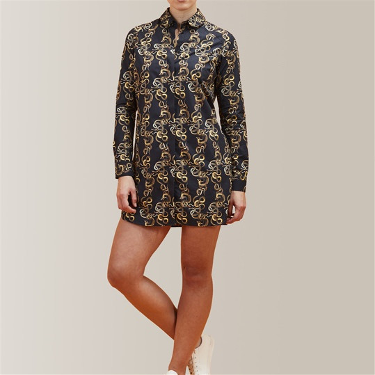 Womens 'A Knot Of Snakes' Shirt Dress