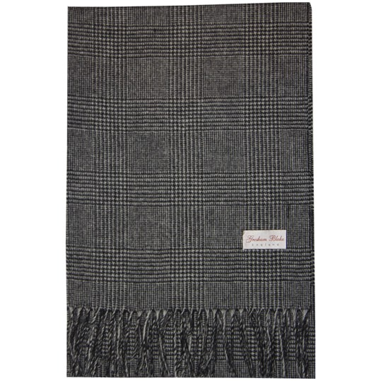 Grey Pow Check Scarf