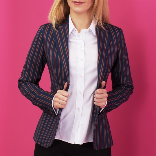 Ladies Red Stripe Blazer