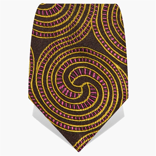 Brown and Pink Spiral Tie