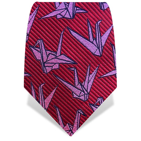 Red & Pink Origami Tie