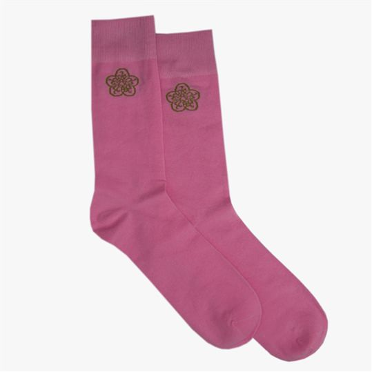 Pink GB Logo Sock