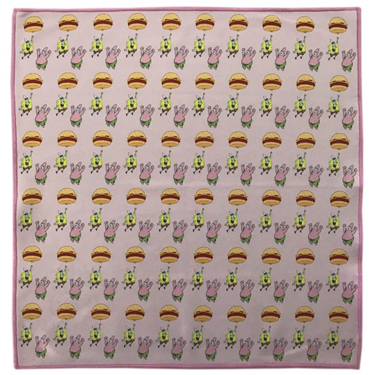 Spongebob 'Burger Balloon' Microfiber Pocket square