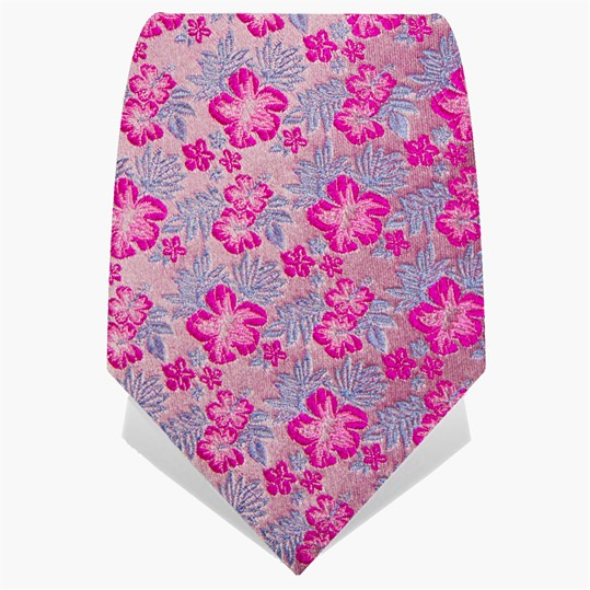 Dusky Pink Small Flower Tie