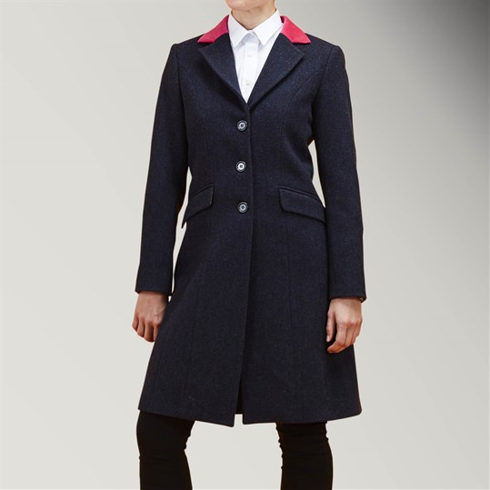 Womens Navy Covert Coat