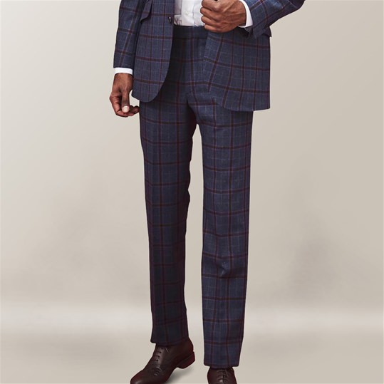 Blue Oatman Check Trouser