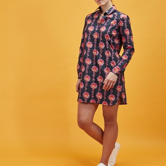 Desert Flower Shirt Dress