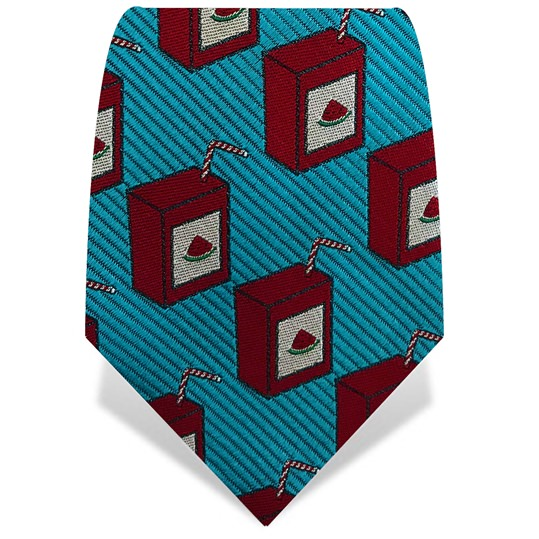 Turquoise & Red Watermelon Juice Tie