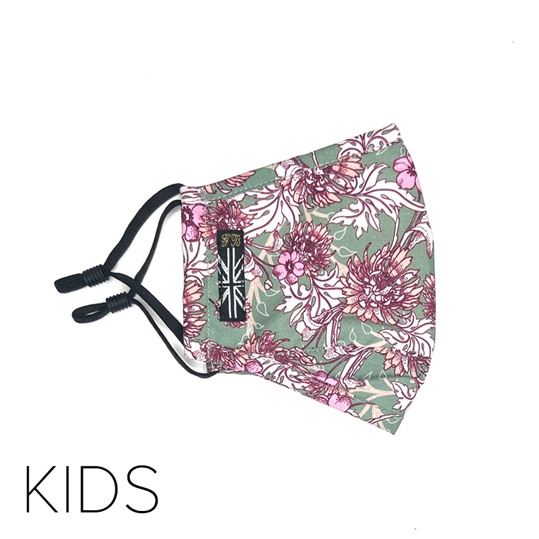 Kids Pink Floral Face Mask