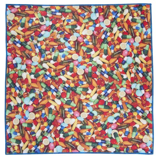 Pills Microfiber Pocket Square
