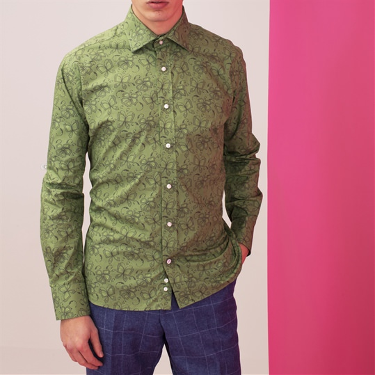 Green Butterfly Net Shirt