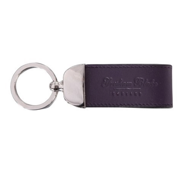 Purple Leather Keyring