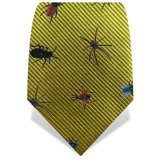 Yellow Robot Insects Tie