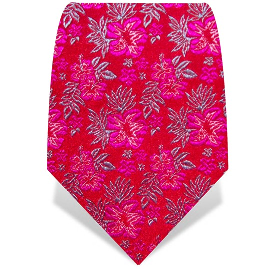 Red and Pink Small Flower Tie