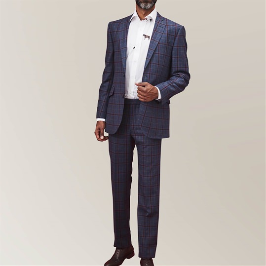 Blue Oatman Check Suit