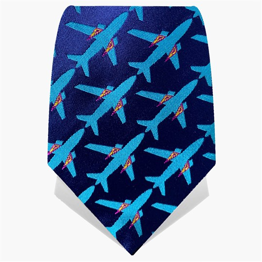 Blue & Turquoise Planes Tie
