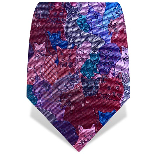 Pink & Red Cats Tie
