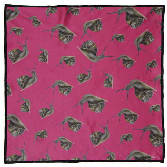 Snail Microfiber Pocket Square