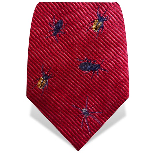 Red Robot Insects Tie