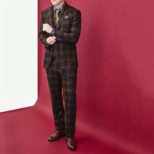 Green Check Wool Suit