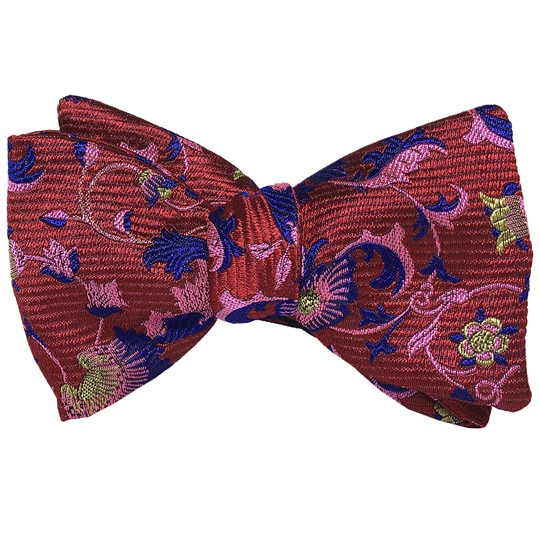 Red & Pink Wallflower Bowtie