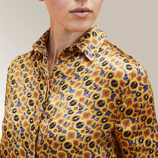 Womens Silk Sunflower Shirt