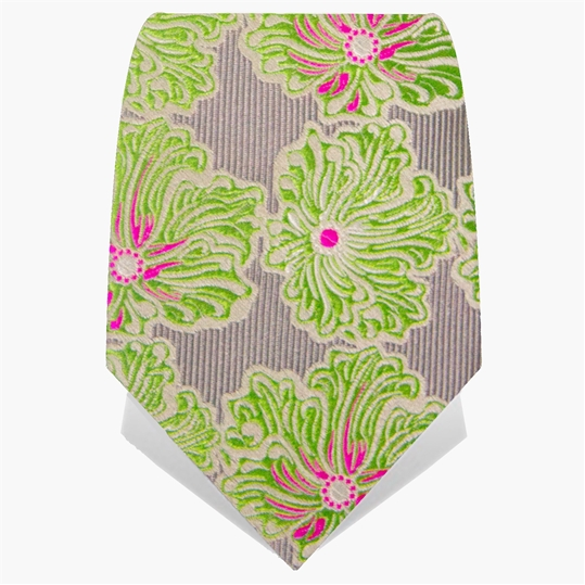 Light Green Wild Flower Tie