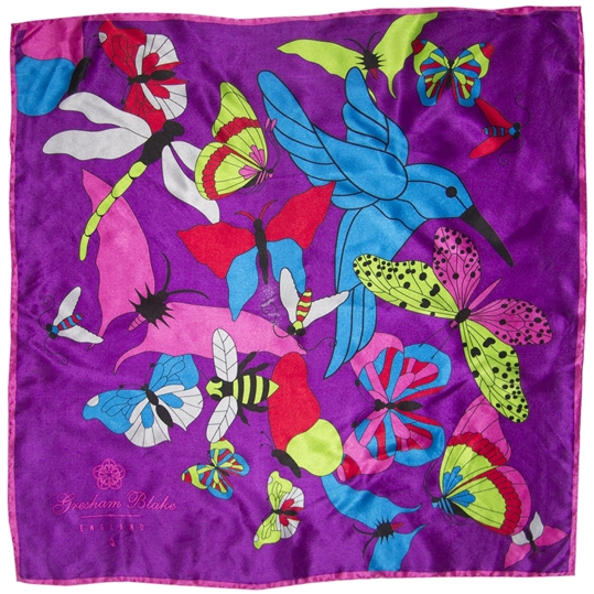 Pink Butterfly Pocket Square