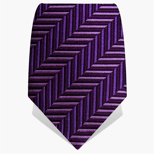 Purple Chevron Tie