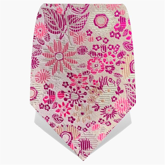 Pink Illuminated Flower Tie