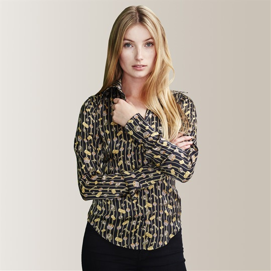 Womens Silk Bling Shirt