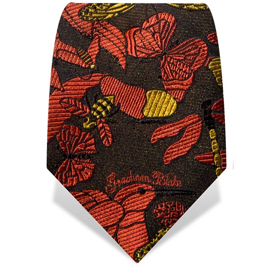 Orange Hummingbird Tie