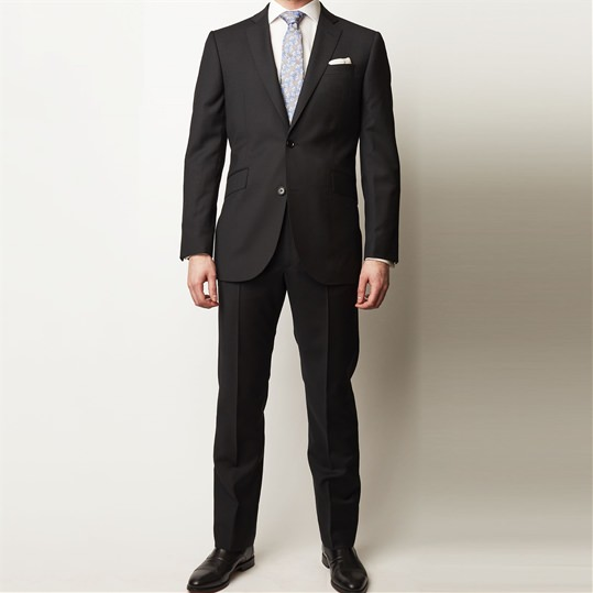 Black Mohair 2 Piece Suit