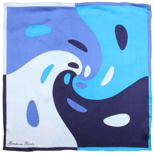 Blue Swirl Pocket Square