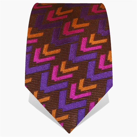 Brown Chevron Tie