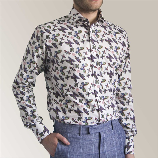 Coloured Garden Butterfly Shirt