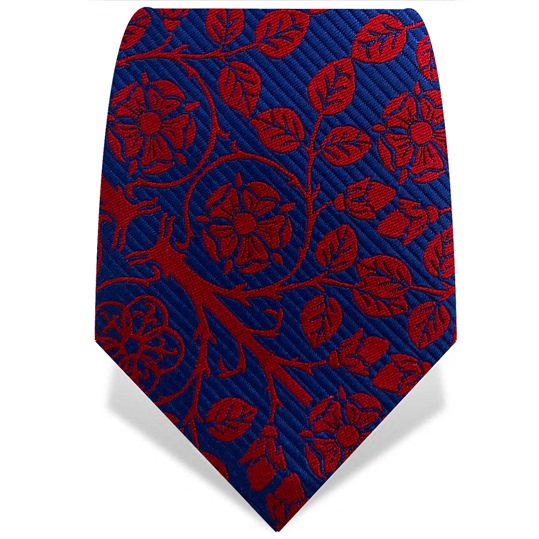 Red & Blue Tudor Rose Tie