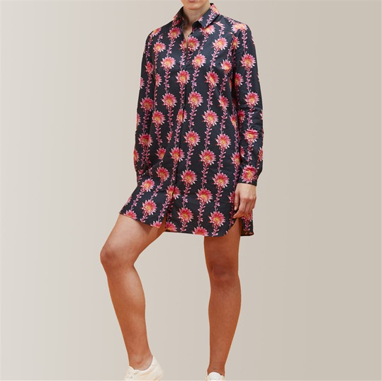 Womens Desert Flower Shirt Dress