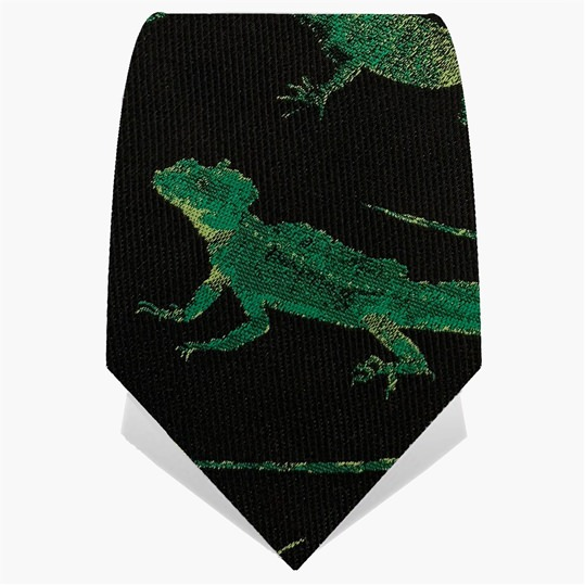 Black & Green Desert Lizard Tie