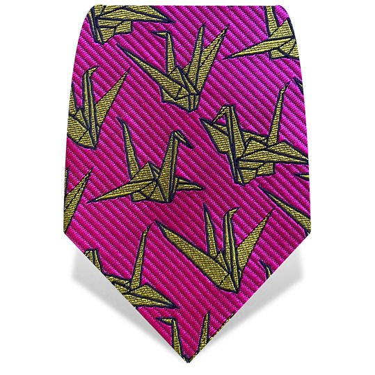 Pink & Yellow Origami Tie
